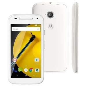 """[Ponto Frio] Smartphone Moto E™ (2ª Geração) Branco com 8GB, Dual Chip, Câmera 5MP, Tela de 4.5"""", Android 5.0 e Processador Quad-Core de 1.2GHz por R$ 411"""