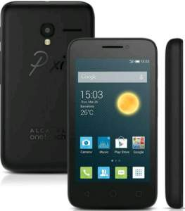 [Walmart]Smartphone Alcatel PIXI3 4009E Preto Dual Chip Android 4.4 3G Câmera 5MP por R$ 289