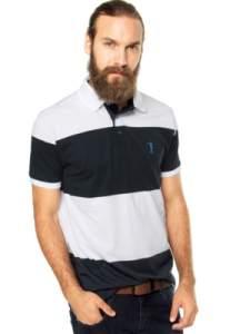 [DAFITI] Camisa Polo Aleatory Logo Azul/Branca - R$ 59,90 com o cupom CA801401