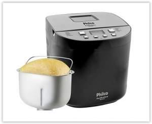 [Sou Barato] Panificadora/Máquina de Pão Eletronic com 12 Programas, 4 tamanhos de pão: 450g, 600g, 900g e 1200g e Visor - Philco por R$ 200