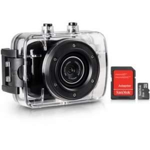 [Walmart] Câmera e Filmadora ONN 5MP HD LCD2 Preta + Cartão de Memória SanDisk 8GB por R$ 118