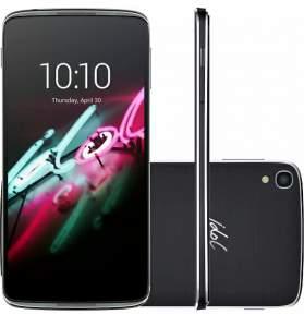 "Smartphone Alcatel Idol 3 Dual Chip Desbloqueado Android 5.0 Tela 4.7"" 16GB 4G 13MP - Cinza Chumbo - Shoptime"
