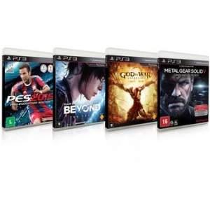 [Walmart] Jogos para PS3 Pro Evolution Soccer 2015 + Beyond Two Sous + God of War Ascension + Metal Gear Solid V: Ground Zeroes por R$ 100