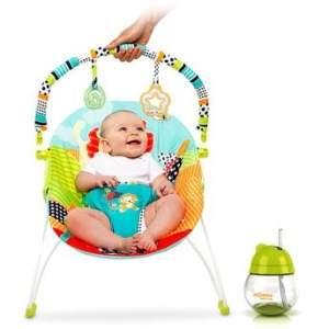 [Walmart] Kit Cadeira de Descanso Safari até 9kg + Copo Antivazamento R$99