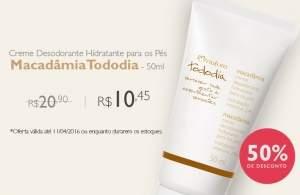 [Natura] Desodorante Hidratante para pes macadamia R$ 10,45