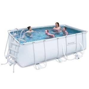 [Centauro] Piscina Retangular Estruturada Bestway Frame Pool 8.124 Litros + Filtro 127V R$1480