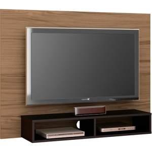 [Shoptime] Painel para Tv até 47 Flash II com Suporte Chocolate/Ébano - at.home por R$ 81