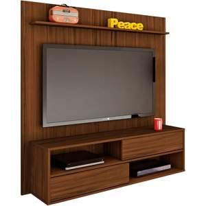 [Shoptime]  Painel para TV Até 47 Polegadas com Suporte Dallas Imbuia - At Home por R$ 186