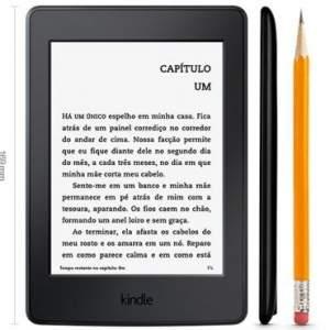 """[Ricardo Eletro] Kindle Paperwhite AO0456, Tela 6"""" de Alta resolução (300 ppi), 4GB, Wi-Fi, Iluminação Embutida, Até 8 semanas de Bateria - Preto"""