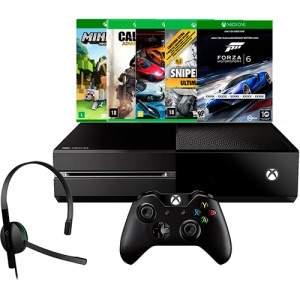 [americanas] Console Xbox One 500GB + 5 Jogos + Headset com Fio + Controle Wireless