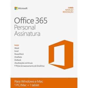 [Submarino] Microsoft Office 365 Personal - Para 1 Computador (PC ou Mac) e 1 Tablet - R$50