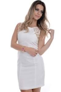 [Dafiti] Vestido Kam Bess Com Detalhe De Recortes R$90