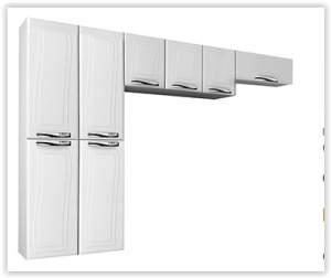 [Efácil]Cozinha Compacta Ipanema Top, de Aço, 3 Peças Branco - Colormaq por R$ 371