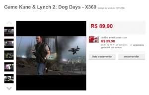 [AMERICANAS] Game Kane & Lynch 2: Dog Days - X360 - R$ 89,90