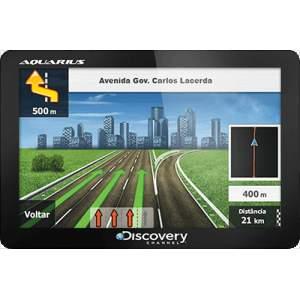"[Americanas] GPS Automotivo Aquarius Discovery Channel 4.3"" Slim Touch Screen por R$ 101,00"
