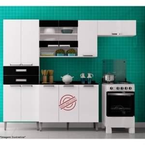 [Efacil] Cozinha Madeira Lumina Branco/Preto - Itatiaia - por R$284