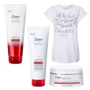 [Ricardo Eletro] Kit Dove Regenerate Nutrition: Shampoo 200ml + Condicionador 200ml + Creme de Tratamento 350g Ganhe Camiseta Chico Rei R$40