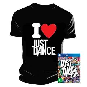 [Ponto Frio] Jogo Just Dance 2015 PS4 + Camiseta I Love Just Dance - Preta por R$ 41
