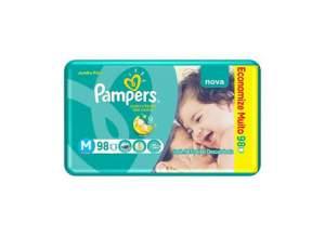 [Walmart] Pacote de Fraldas 98 unidades Total Confort Jumbo M Pampers