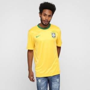 "[NETSHOES] CAMISETA NIKE SELEÇÃO BRASIL 2014 -TORCEDOR - SÓ  ""GG"" NETSHOES"