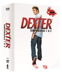 [Saraiva] DVD Box Dexter - 1ª a 5ª Temporada - 20 Discos - por R$90