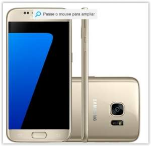 "[Submarino] Smartphone Samsung Galaxy S7 Desbloqueado Android 6.0 Tela 5,1"" 32GB 4G 12MP - Dourado por R$ 3077"