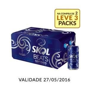 [Empório da Cerveja] Kit Skol Beats Senses 269ML - Na Compra de 2 , Leve 3 Caixas - por R$60