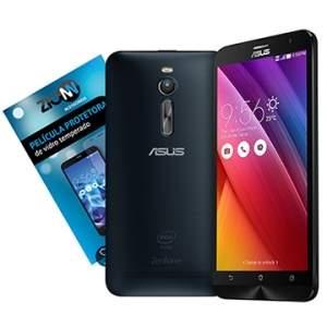 "[EFACIL]Smartphone Zenfone 2, Dual Chip, Preto, Tela 5.5"", 4G+WiFi, 13MP, 16GB + Película Vidro Zenfone 2 - Asus POR R$1116"