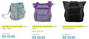 [SUBMARINO] Tote Bag com Alça Mochila MOOVI - R$ 29,90