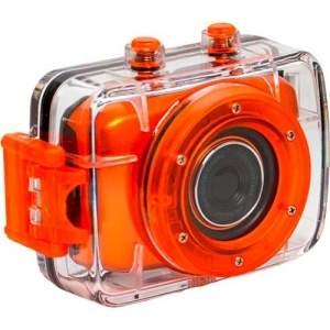 [Sou Barato] Filmadora Esportiva Vivitar DVR783HD HD (720p) 5MP LCD2- Laranja - por R$179