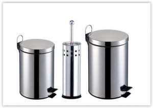 (RICARDO ELETRO) KIT Banheiro 3 Peças: Lixeiras em Aço Inox com capacidade para 3 e 5L + Escova Sanitária com Cerdas Flexíveis e Suporte em Aço Inox  por R$ 60