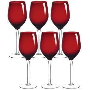 [Ponto Frio] Conjunto de Taças de Vinho Louvre Enjoy Vidro 410ml - 6 Peças por R$ 46