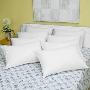 [Shoptime] Capa de Travesseiro Impermeável 8 Peças Percal 200 Fios - Casa & Conforto - por 81