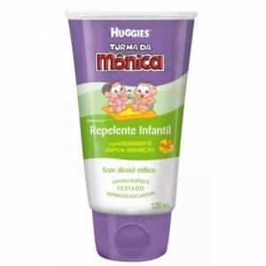 [ Lojas REDE ] Repelente Infantil Turma Da Mônica Com Hidratante Huggies 120ml - por R$15