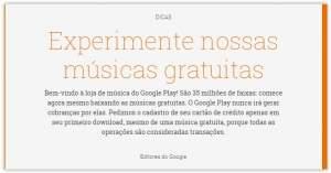[Google Play] Diversos albuns e músicas grátis