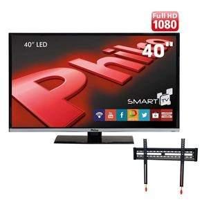"""[Ponto Frio] Smart TV LED 40"""" Full HD Philco PH40B28DSGW + Suporte Fixo de Parede ELG E600 New por R$ 1135"""