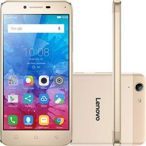 """[Shoptime] Smartphone Lenovo Vibe K5 Dual Chip Android Tela 5"""" 16GB 4G Câmera 13MP - Dourado por R$ 809"""