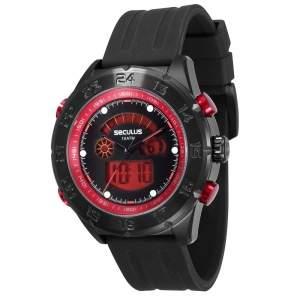 [CASAS BAHIA] Relógio Masculino Analógico Seculus 20220GPSVPU1 – Preto - R$ 153,91