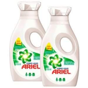 """[Ricardo Eletro] LEVE + PAGUE -: Kit 2 Ariel Líquido 630ml """" 2x Mais Poder de Limpeza que o Sabão em Pó """" - P&G por R$ 14"""