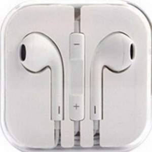 [CLUBE DO RICADO] Fone de Ouvido Intra Auricular Estéreo com Controle de Audio e Microfone - PC-100 Branco - R$15