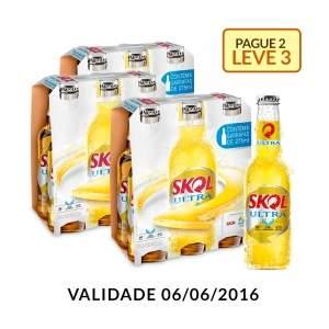 [EMPRORIOdaCERVEJA] Kit Skol Ultra 275ML - Na Compra de 2, Leve 3 Caixas - R$ 29,88