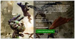 [Xbox Live] DC Universe Online para Xbox one - Grátis