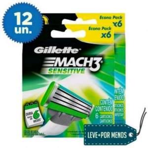 [Ricardo Eletro] Leve Mais Pague Menos: 12 cargas Mach3 Sensitive por R$ 43