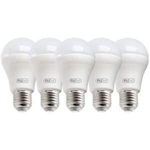 [RicardoEletro] Kit 5 Lâmpadas de Led Ecoled 6W 6400K E27 A60 Bivolt Branca - FLC - R$50