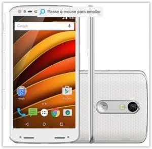 "[Submarino] Smartphone Motorola Moto X Force Dual Chip Android Lollipop 5.1.1 Tela 5.4""64GB 4G Câmera de 21MP - Branco por R$ 2519"