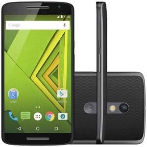 [SouBarato] Smartphone Motorola Xt1563 Android 4G Câmera 21 MP 16GB Processador Octa-core - Preto - R$1.299,00