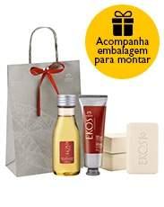 [Natura] Presente Natura Ekos Castanha - Polpa Hidratante para Mãos + Óleo Desodorante Hidratante + Sabonete em Barra + Embalagem Desmontada -R$66