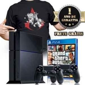 [PelotaoDosGames] Playstation 4 + Jogo + Camiseta+ Controle Adicional+ Frete Grátis R$ 1.999,80