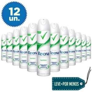 [ELETROSHOPPING] 12 Desodorantes Aerosol Rexona Women Bamboo Feminino 175ml por R$90
