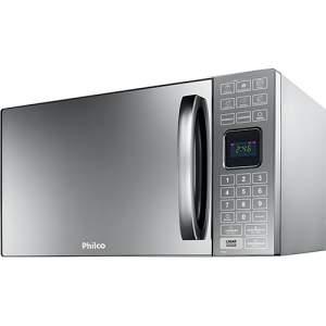 [AMERICANAS] Micro-ondas Philco PME25 25 Litros c/ Tecla Preparo Rápido Prata Espelhado - R$317